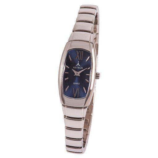 ASTRON 5008-2 női karóra, ezüst színű fém tok, ezüst színű fémcsat, kék számlap, keményített ásványüveg, quartz szerkezet, cseppmentes vízállóság