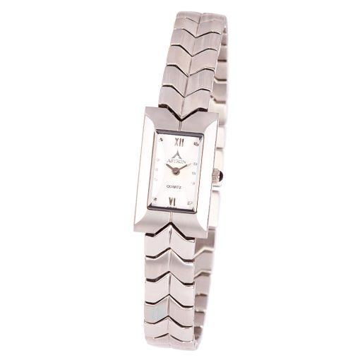 ASTRON 5045-8 női karóra, ékszeróra, ezüst színű nemesacél tok, ezüst színű nemesacél csat, római számos fehér számlap, keményített ásványüveg, quartz szerkezet, cseppmentes vízállóság