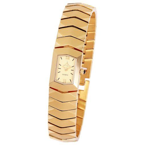 ASTRON 5050-9 női karóra, arany színű nemesacél tok, arany színű nemesacél csat, római számos arany színű számlap, keményített ásványüveg, quartz szerkezet, cseppmentes vízállóság