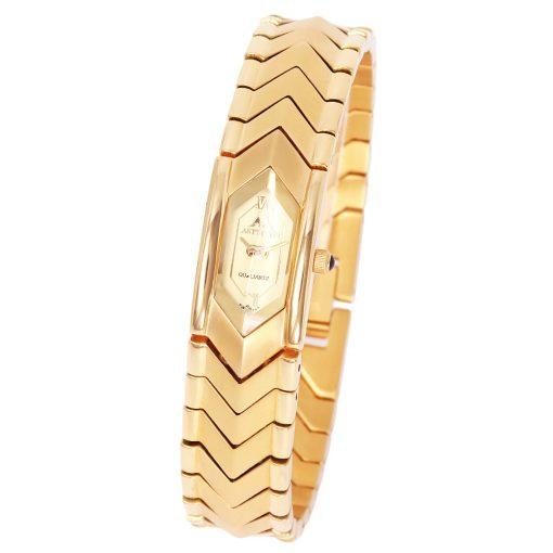 ASTRON 5052-9 női karóra, arany színű nemesacél tok, arany színű nemesacél csat, arany színű számlap, keményített ásványüveg, quartz szerkezet, cseppmentes vízállóság