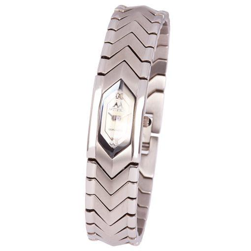 ASTRON 5053-8 női karóra,  ékszeróra, ezüst színű nemesacél tok, ezüst színű nemesacél csat, római számos  fehér számlap, keményített ásványüveg, quartz szerkezet, cseppmentes vízállóság