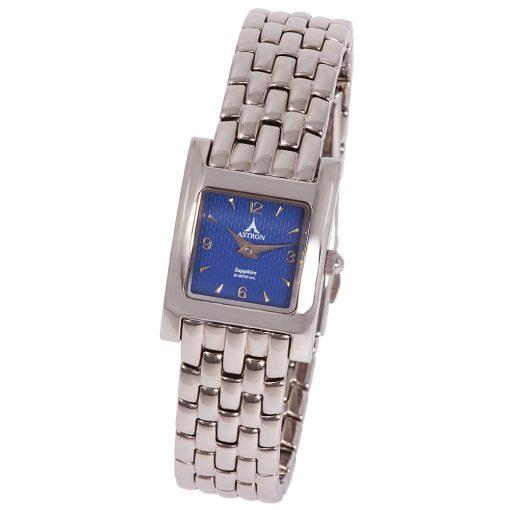 ASTRON 5062-2 női karóra, ezüst színű nemesacél tok, ezüst színű nemesacél csat, kék számlap, keményített ásványüveg, quartz szerkezet, 50 m (5 ATM) vízállóság