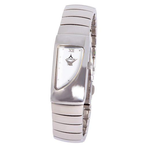 ASTRON 5064-7 analóg női karóra, ezüst színű nemesacél tok, ezüst színű nemesacél szíj/csat, fehér számlap, keményített ásványüveg, quartz szerkezet, cseppmentes vízállóság