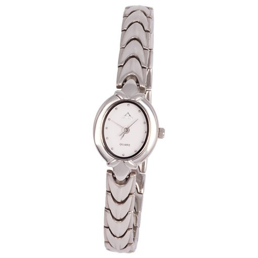 ASTRON 5083-7 női karóra, ékszeróra, ezüst színű nemesacél tok, ezüst színű nemesacél csat, fehér számlap, keményített ásványüveg, quartz szerkezet, cseppmentes vízállóság
