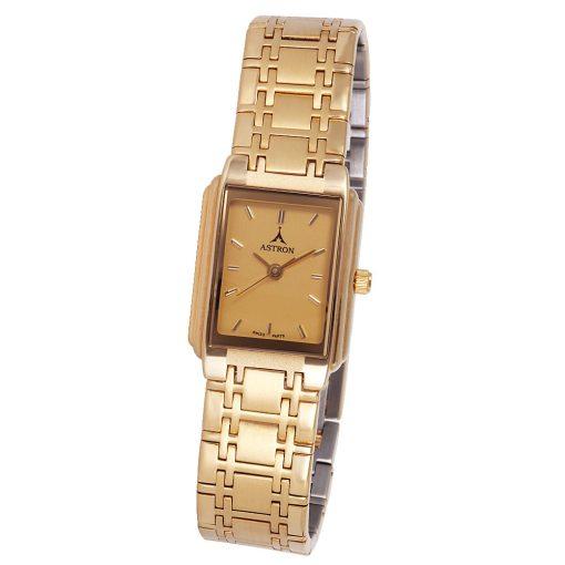 ASTRON 5104-9 női karóra, arany színű fém tok, arany színű fémcsat, arany színű számlap, keményített ásványüveg, quartz szerkezet, cseppmentes vízállóság