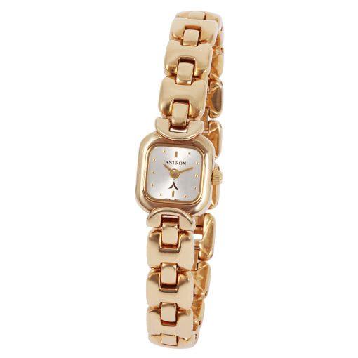 ASTRON 5124-7 női karóra, arany színű fém tok, arany színű fémcsat, arany színű számlap, keményített ásványüveg, quartz szerkezet, cseppmentes vízállóság
