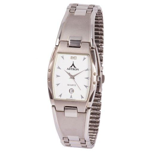 ASTRON 5158-7 férfi karóra, ezüst színű fém tok, ezüst színű fémcsat, fehér számlap, keményített ásványüveg, quartz szerkezet, cseppmentes vízállóság