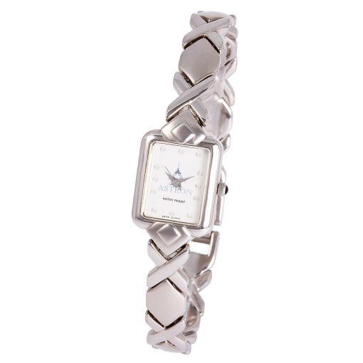 ASTRON 5160-7 női karóra, ezüst színű fém tok, ezüst színű fémcsat, fehér számlap, keményített ásványüveg, quartz szerkezet, cseppmentes vízállóság
