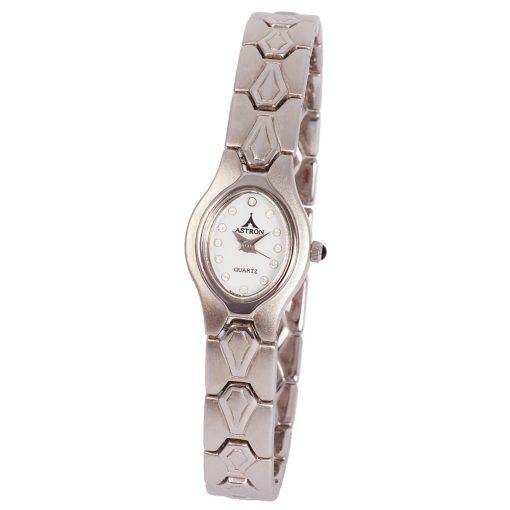 ASTRON 5166-6 női karóra, ezüst színű nemesacél tok, ezüst színű fémcsat, fehér számlap, keményített ásványüveg, quartz szerkezet, cseppmentes vízállóság