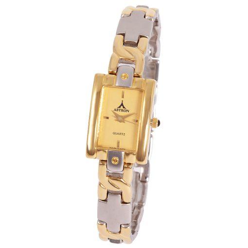 ASTRON 5174-9 analóg női karóra, bicolor színű fémötvözet tok, arany színű fémötvözet szíj/csat, arany színű számlap, keményített ásványüveg, quartz szerkezet, cseppmentes vízállóság