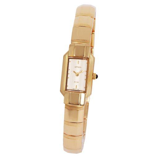 ASTRON 5180-9 női karóra, arany színű nemesacél tok, arany színű fémcsat, fehér számlap, keményített ásványüveg, quartz szerkezet, cseppmentes vízállóság