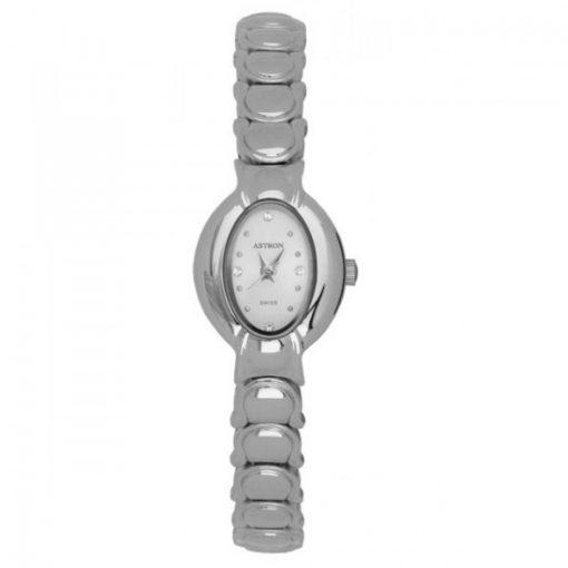 ASTRON 5186-7 analóg női karóra, ezüst színű fém tok, ezüst színű fém szíj/csat, fehér számlap, keményített ásványüveg, quartz szerkezet, cseppmentes vízállóság