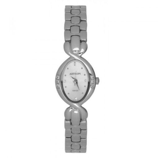 ASTRON 5188-8 női karóra, ékszeróra, ezüst színű fém tok, ezüst színű fémcsat, ezüst színű számlap, keményített ásványüveg, quartz szerkezet, 50 m (5 ATM) vízállóság