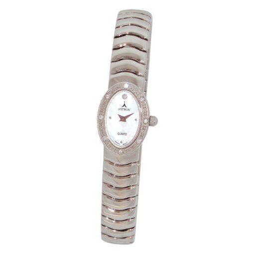 ASTRON 5243-6 analóg női karóra, ezüst színű fémötvözet tok, ezüst színű fémötvözet szíj/csat, gyöngyház színű számlap, keményített ásványüveg, quartz szerkezet, cseppmentes vízállóság