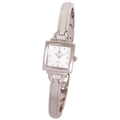 ASTRON 5258-7 női karóra, ékszeróra, ezüst színű fém tok, ezüst színű fémcsat, ezüst színű számlap, keményített ásványüveg, quartz szerkezet, cseppmentes vízállóság