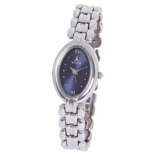 ASTRON 5415-2 női karóra, ezüst színű fém tok, ezüst színű fémcsat, kék számlap, keményített ásványüveg, quartz szerkezet, cseppmentes vízállóság