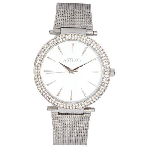 ASTRON 5535-7 női karóra, ezüst színű nemesacél tok, ezüst színű nemesacél csat, fehér számlap, keményített ásványüveg, quartz szerkezet, cseppmentes vízállóság