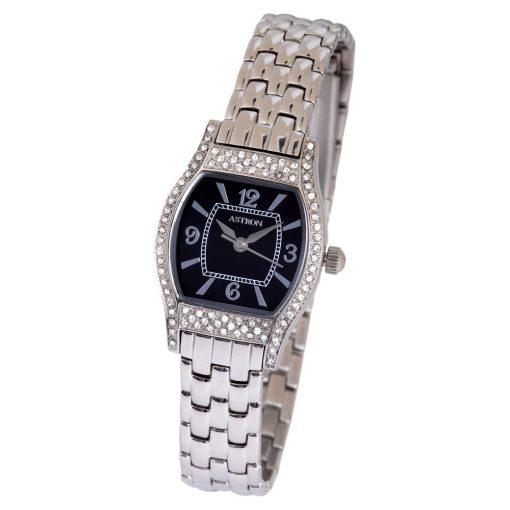 ASTRON 5542-1 női karóra, ezüst színű nemesacél tok, ezüst színű nemesacél csat, fekete számlap, keményített ásványüveg, quartz szerkezet, cseppmentes vízállóság