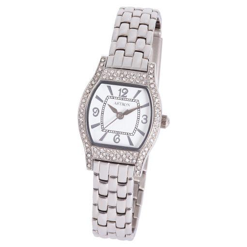 ASTRON 5542-7 női karóra, ezüst színű nemesacél tok, ezüst színű nemesacél csat, fehér számlap, keményített ásványüveg, quartz szerkezet, cseppmentes vízállóság