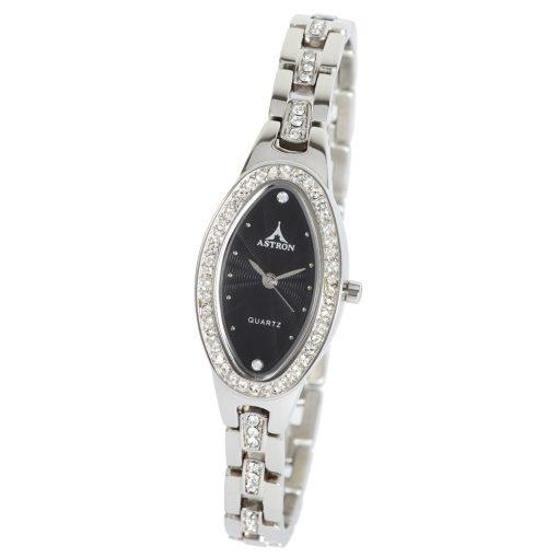 ASTRON 5583-1 női karóra, ezüst színű nemesacél tok, ezüst színű nemesacél csat, fekete számlap, keményített ásványüveg, quartz szerkezet, cseppmentes vízállóság