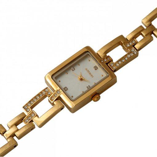 ASTRON 5609-8 női karóra, arany színű fém tok, arany színű fémcsat, fehér számlap, keményített ásványüveg, quartz szerkezet, cseppmentes vízállóság