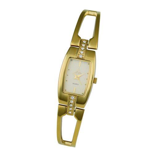 ASTRON 5706-9 női karóra, arany színű nemesacél tok, arany színű fémcsat, pezsgőszínű számlap, keményített ásványüveg, quartz szerkezet, cseppmentes vízállóság