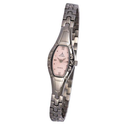 ASTRON 5709-6 női karóra, ezüst színű nemesacél tok, ezüst színű fémcsat, rózsaszín számlap, keményített ásványüveg, quartz szerkezet, cseppmentes vízállóság