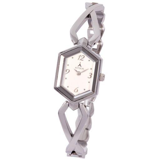 ASTRON 5725-8 női karóra, ezüst színű fém tok, ezüst színű fémcsat, arab számos, ezüst színű számlap, keményített ásványüveg, quartz szerkezet, cseppmentes vízállóság