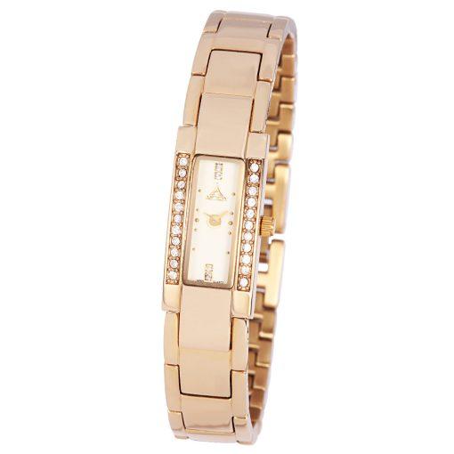 ASTRON 5741-9 női karóra, ékszeróra, arany színű nemesacél tok, arany színű nemesacél csat, pezsgőszínű számlap, keményített ásványüveg, quartz szerkezet, cseppmentes vízállóság