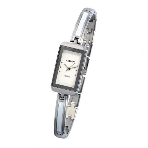 ASTRON 5748-7 analóg női karóra, ezüst színű fém tok, ezüst színű fém szíj/csat, fehér számlap, keményített ásványüveg, quartz szerkezet, cseppmentes vízállóság