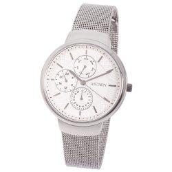 Ceas de damă ASTRON, mecanism quartz, carcasă și brățară argintie, cadran alb